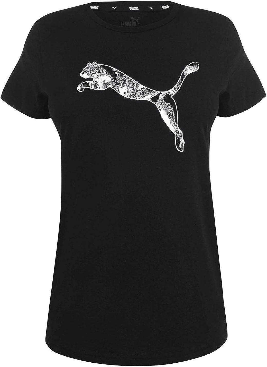PUMA Big Cat QT - Camiseta de Manga Corta para Mujer