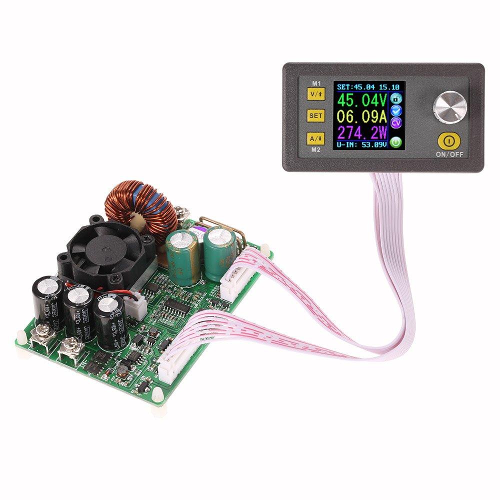 KKmoon LCD digitale programmabile a tensione costante, modulo di alimentazione step- down DC 0-50.00V/0-15.00A. B01M6XYAJG
