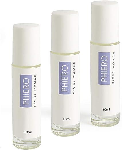 Phiero Night Woman - Pack 3 Perfumes Roll-ON de bolsillo con 4 tipos de feromonas para mujer: Amazon.es: Belleza