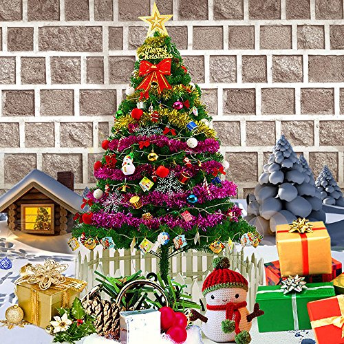 Weida 6Feet First Class Christmas Pine Trees 450 Tips Durable  Easy Assembly Branches Artifical Natural Christmas Tree With Solid Metal Legs