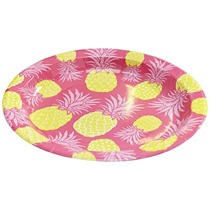 Ginger Ray Summer Fruits Pineapple u0026 Hot Paper Party Plates ...  sc 1 st  Amazon.com & Amazon.com: Ginger Ray Summer Fruits Pineapple u0026 Hot Paper Party ...