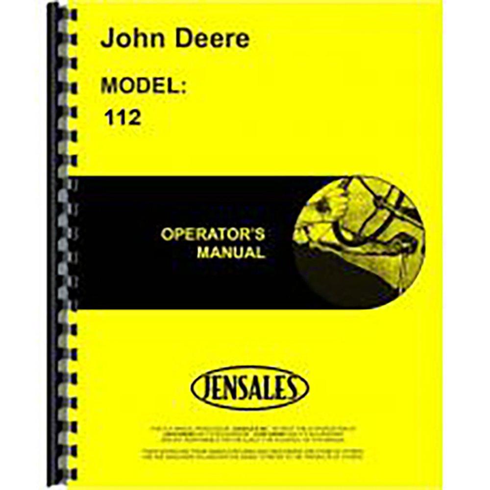Amazon.com: New Operators Manual For John Deere Lawn & Garden Tractor 112:  Industrial & Scientific