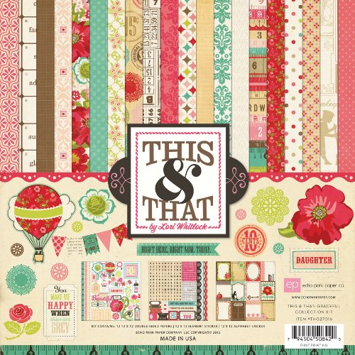UPC 794504508420, Echo Park Paper This & That Graceful 12 by 12-Inch Collection Kit