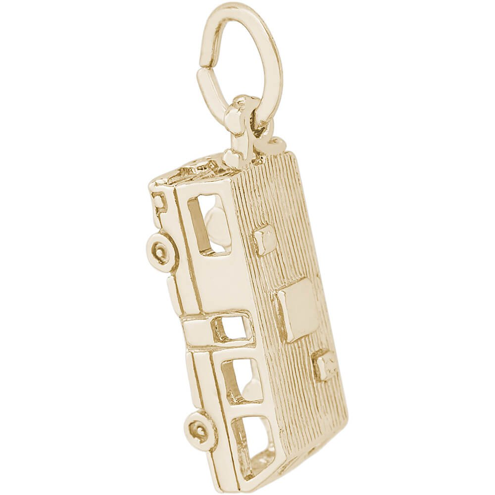Rembrandt Charms Motorhome Charm, 14K Yellow Gold