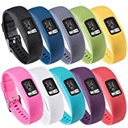 QGHXO Band for Garmin Vivofit 4, Soft Silicone Replacement Watch Band Strap for Garmin Vivofit 4 Activity Tracker, Small, Large, Ten Colors