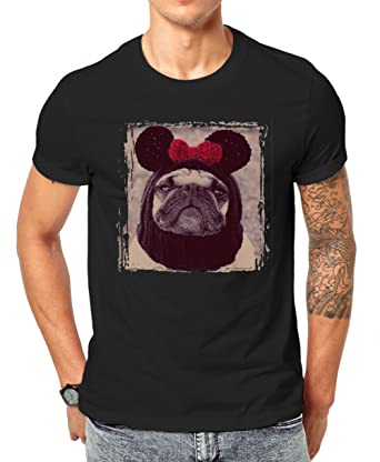 50b7b546a Cute Pug Dog Animals Collection Adorable Gangster Men's Classic T-Shirt by  Jungle Tribe XX
