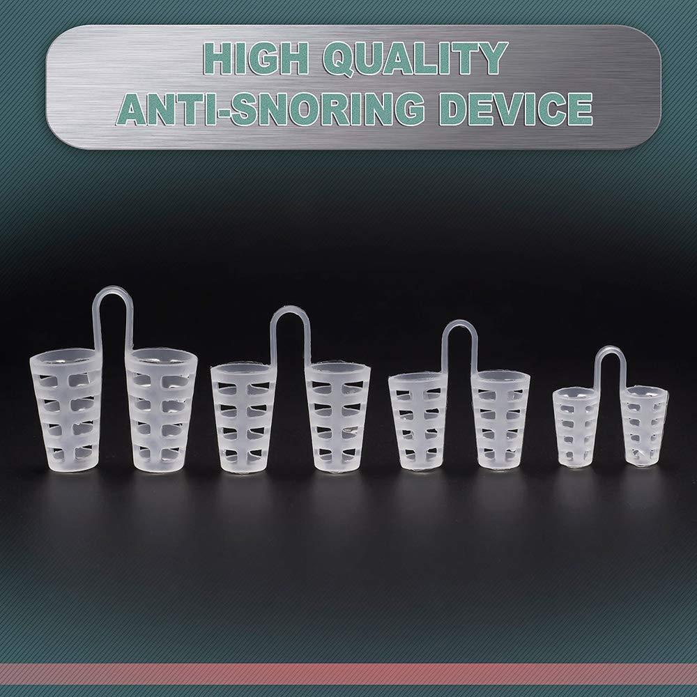4 unidades de dispositivo antirronquidos + correa de barbilla de ...