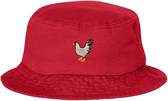 Go All Out Adult Chicken Embroidered Bucket Cap Dad Hat