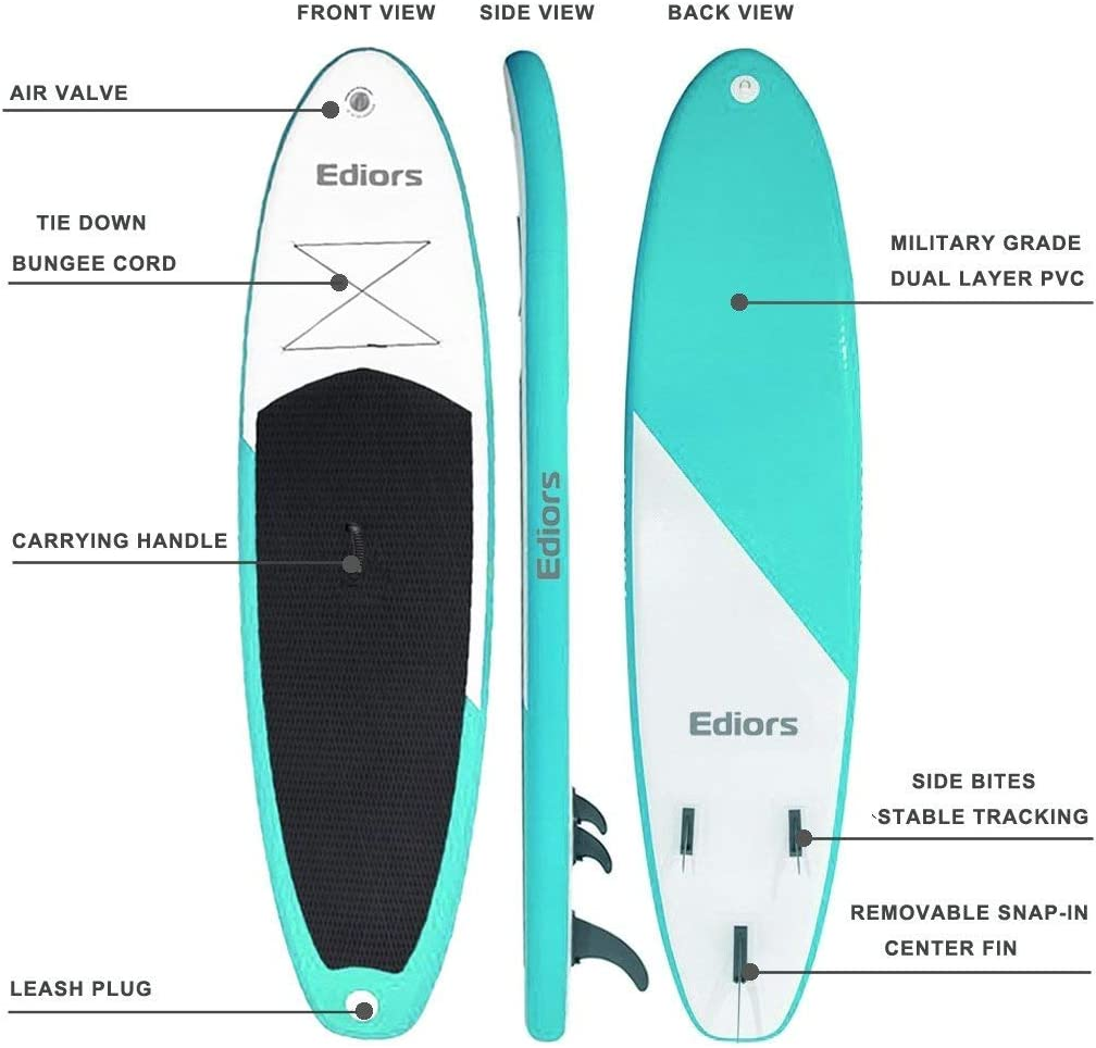 Amazon.com: ediors inflable SUP Stand Up Paddle Board (6 ...