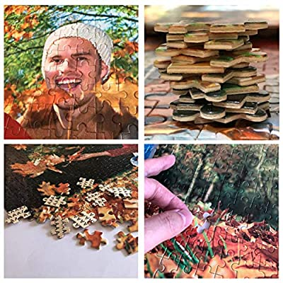 1000 Pieces Custom Photo Jigsaw Puzzle, Personalized Custom Wooden Puzzle from Your own Image and Text, DIY, 29.5x19.7 in: Toys & Games