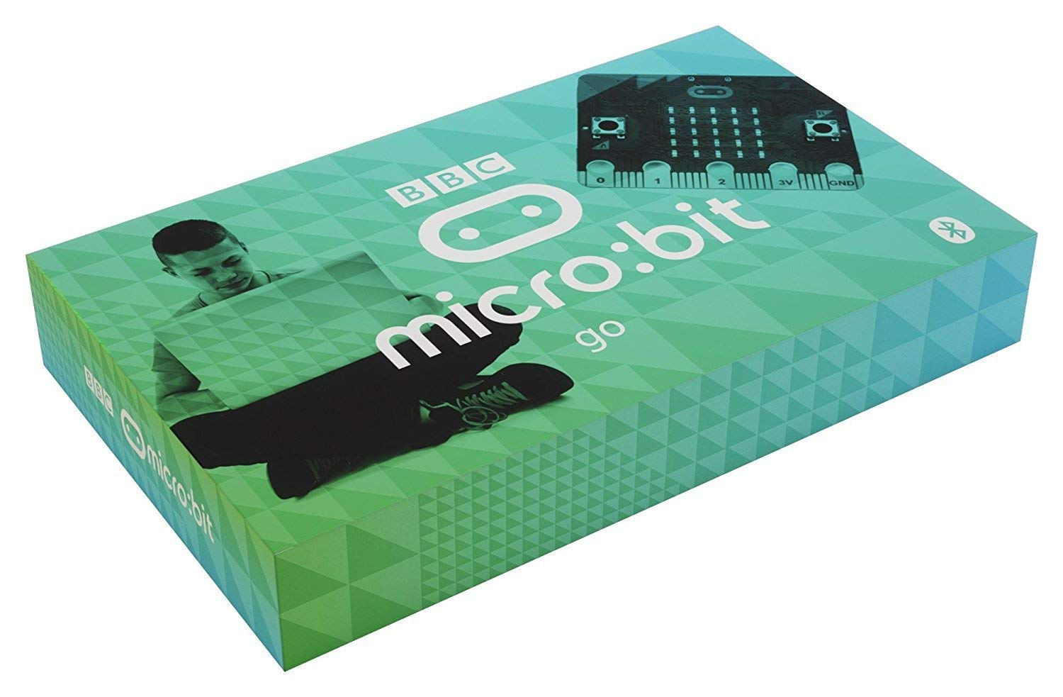 BBC micro:bit go kit, pocket-sized, programmable computer with cable and battery pack