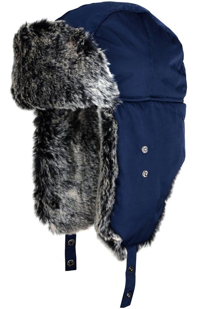 Mirah June Unisex Nylon Russian Style Winter Ear Flap Hat Black