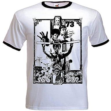 Urbanas Shaolin hombres de la Operación dragón Inspirado Equipada T Shirts, Grande, Blanco Con Negro Recorte: Amazon.es: Ropa y accesorios