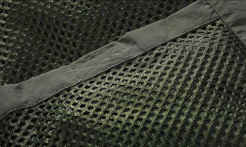 Libre Aire para Periodista Hombre Trabajo Green 171262 Múltiples Pesca para de Secado de Fotografía Malla de Rápido Army al con Bolsillos Chaleco Jessie Chaleco IxTX1U1