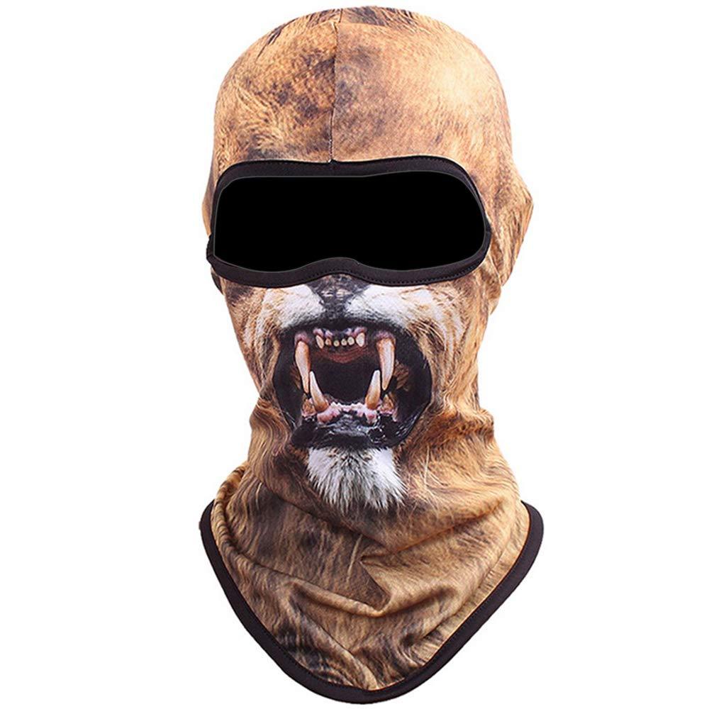 Shujin Unisex Outdoor Maske Multifunktionen Sturmhaube Gesichtsmaske Motorrad Ski Snowboard Fahrrad Maske mit Lustig 3D Tier Motiv Printed Hals Kopftuch