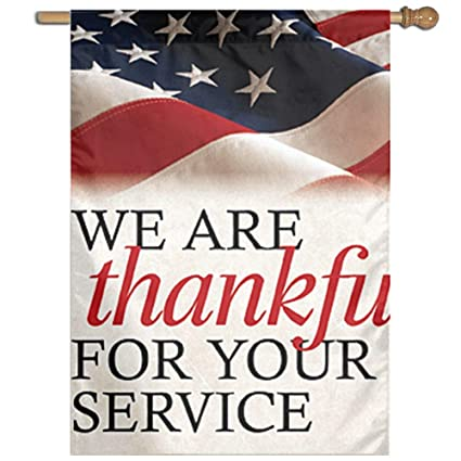 Image result for American flag Thank you for your service banner long