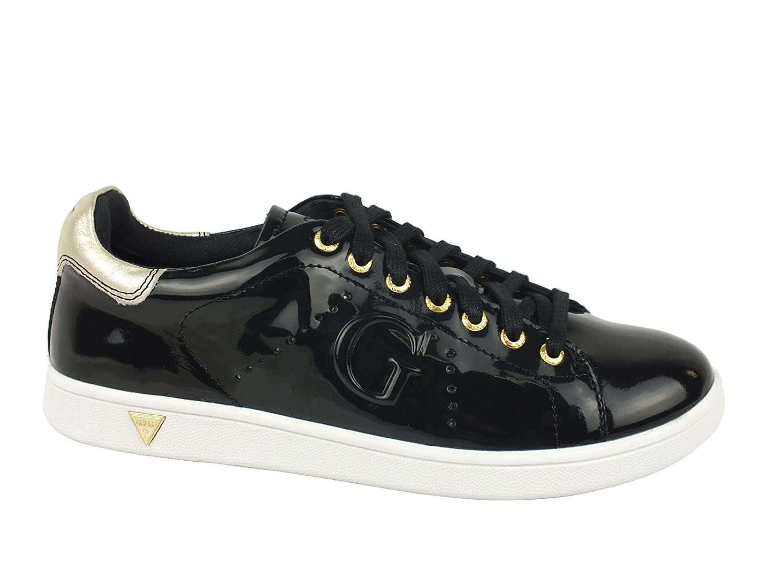 GUESS Super sneakers vernice donna PELLE BLACK NERO Tg.35: Amazon.it:  Scarpe e borse