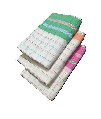 Cotton Colors - 3 Cotton Bath Towels - Standard Towel (58