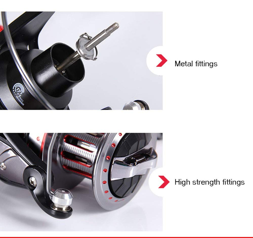 Amazon.com: Sea Fishing Reels Far Wheel 9000/10000/12000 Series 17 + 1BB Rotating Reel Jigging Sea Roll Fishing A Brine Bobbin Feeding Resistance 25-30 Kg: ...