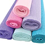 pink and purple crepe paper - Just Artifacts Premium Crepe Paper Rolls - 8ft Length/20in Width (6pcs, Color Mermaid)