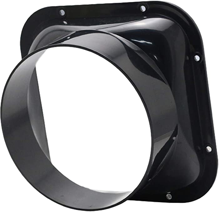 Duct Connector Flange, OMIDY Square Plastic Straight Pipe Flange for Heating Cooling Ventilation System (6inch/150mm, Square)