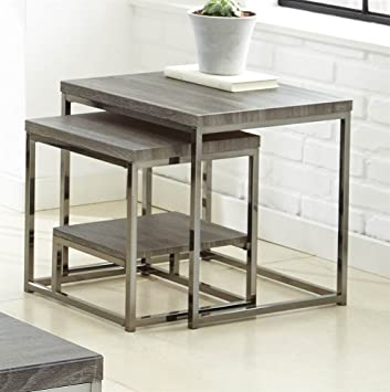 Amazoncom Steve Silver Company Lucia 2 Piece Nesting Tables 20