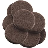 """Self-Stick 1-1/2"""" Heavy Duty Furniture Felt Pads for Hard Surfaces (8 piece) - Brown, Round"""