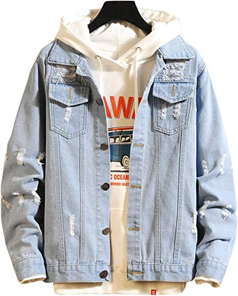 Aisaidunメンズ コート ジャケット デニム Gジャン 長袖 春 秋 ジージャン メンズ アウトドア ファッション アウター 韓国風 通勤 通学 カジュアル かっこいい コート