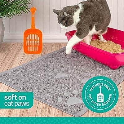 Cat Box Ruff 'n Ruffus Pets Premium Non-Slip Cat Litter Mat + Free...