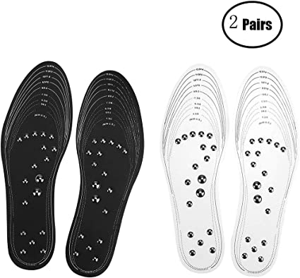 1 Pair Magnetic Therapy Memory Cotton Massager Insoles Foot Health Care Shoe Pad