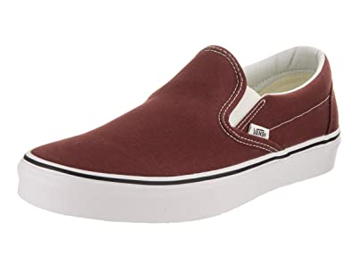 8649cf4837 Image Unavailable. Image not available for. Color  Vans Unisex Classic Slip- On Madder Brown True White ...