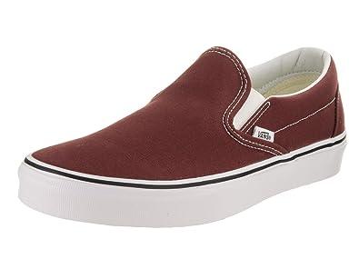 870a6faa7b73b Vans Unisex Classic Slip-On Madder Brown/True White Skate Shoe 5.5 Men US/7  Women US