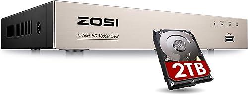 ZOSI H.265 8CH 5MP Lite 4-in-1 Surveillance DVR Recorder