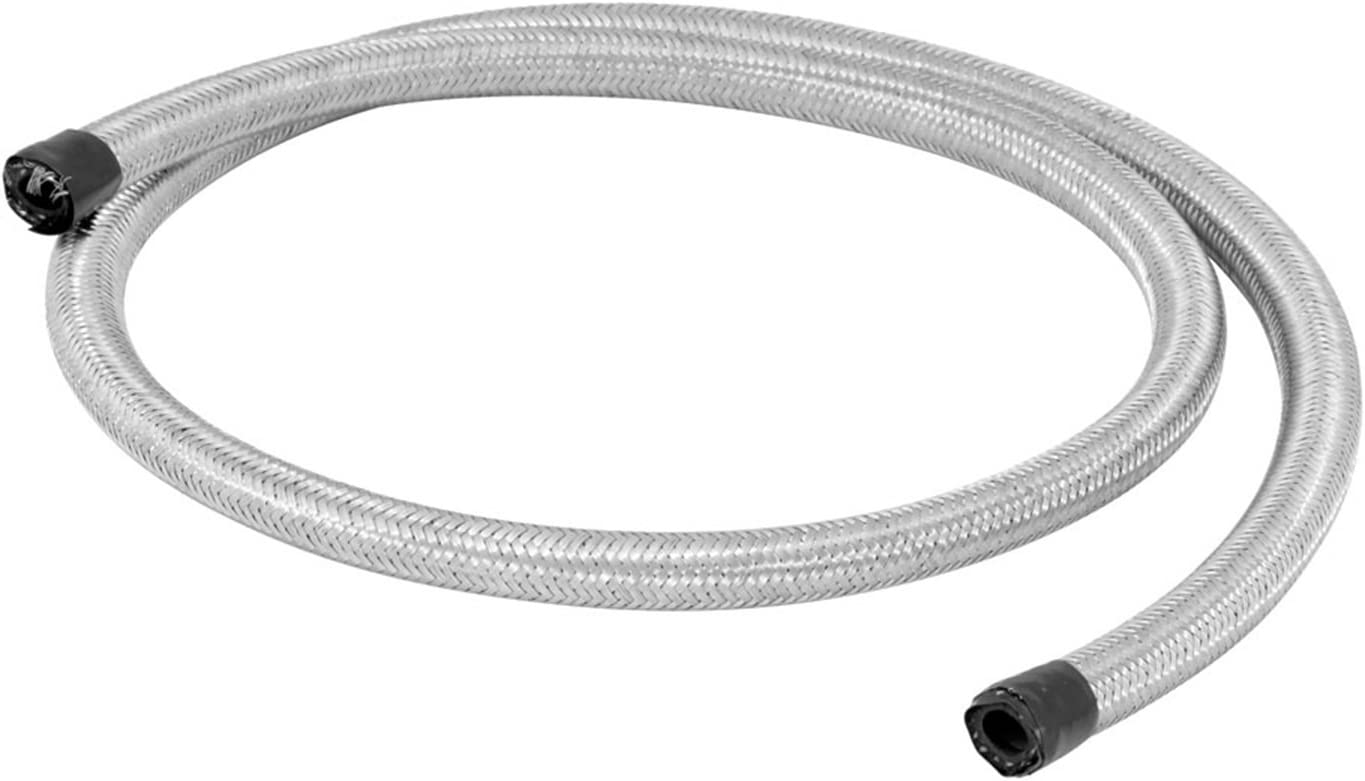 W//CHROME CLAMPS 29498 SPE Spectre Fuel Line For STAINLESS STEEL FLEX 3//8-3/'