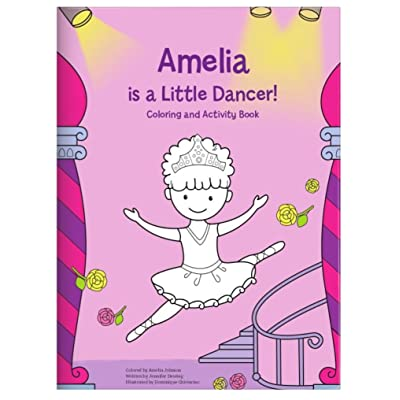 Coloring Book for Kids Toddlers Children Girls, Personalized Custom Name, Ballerina Dancer : Baby