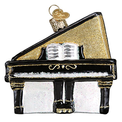 Old World Christmas Piano Glass Blown Ornament (Grand Piano)