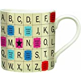 Scrabble Letter Tile Ceramic Mug (13 Ounces)