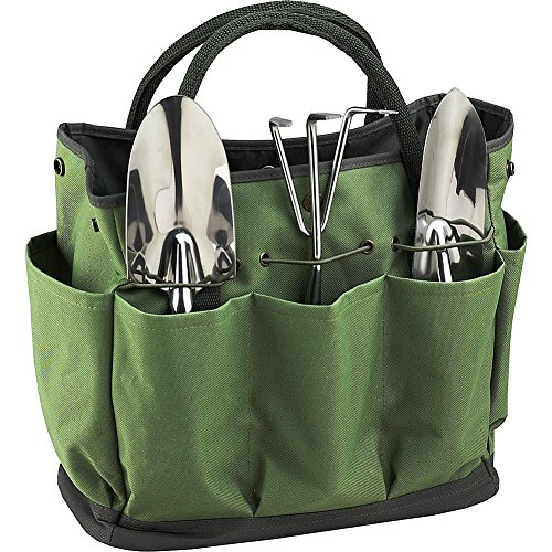 Picnic at Ascot Eco Gardening Tote with Tool Set, Forest Green