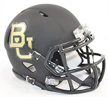 Baylor Bears velocidad Mini – Casco, color negro mate