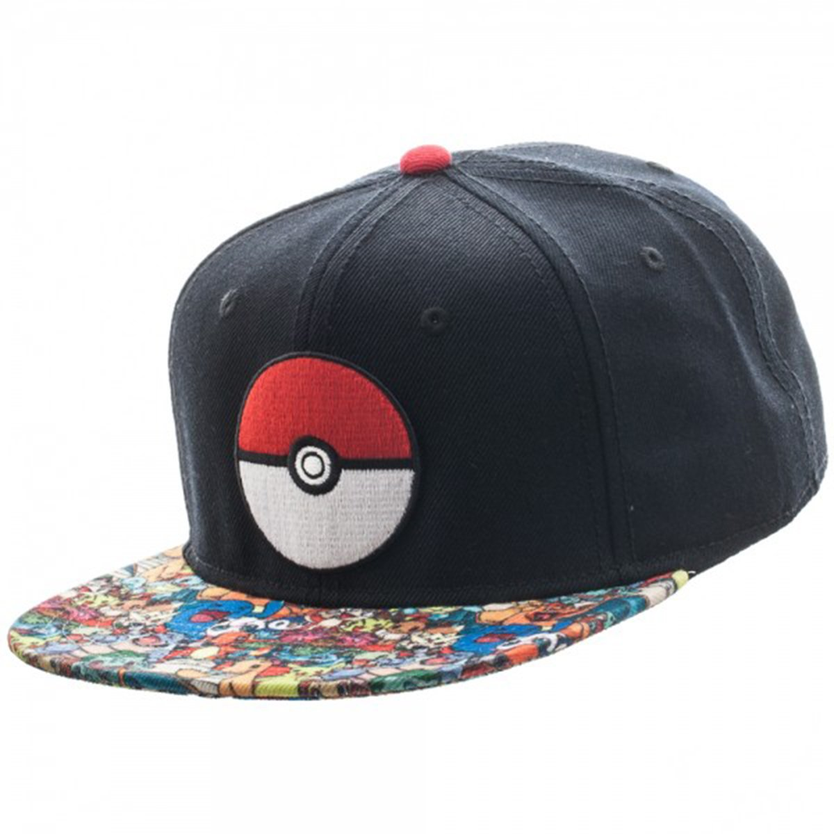 Pokemon Pokeball Sublimated Bill Snapback Hat BIOWORLD