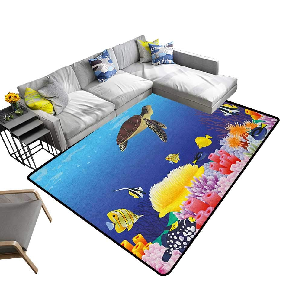 Ocean Household 装飾フロアマット Kood Island タイ 旅行 バケーション 天国旅行 アジア 70インチx82インチ 床の装飾用 70