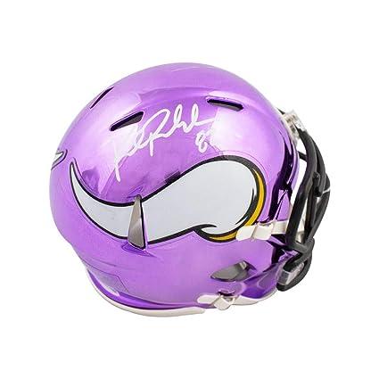 b520bc22b16 Kyle Rudolph Autographed Minnesota Vikings Chrome Mini Football Helmet -  BAS COA