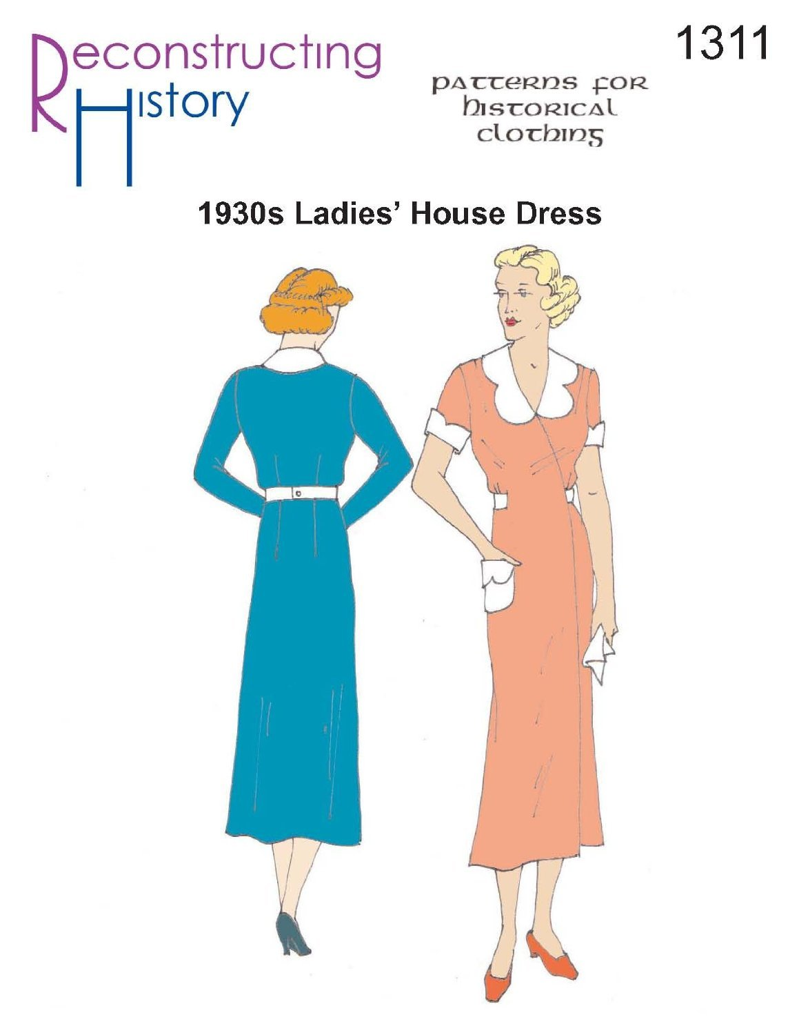 1930s House Dress Pattern Patterns of Time RC1311