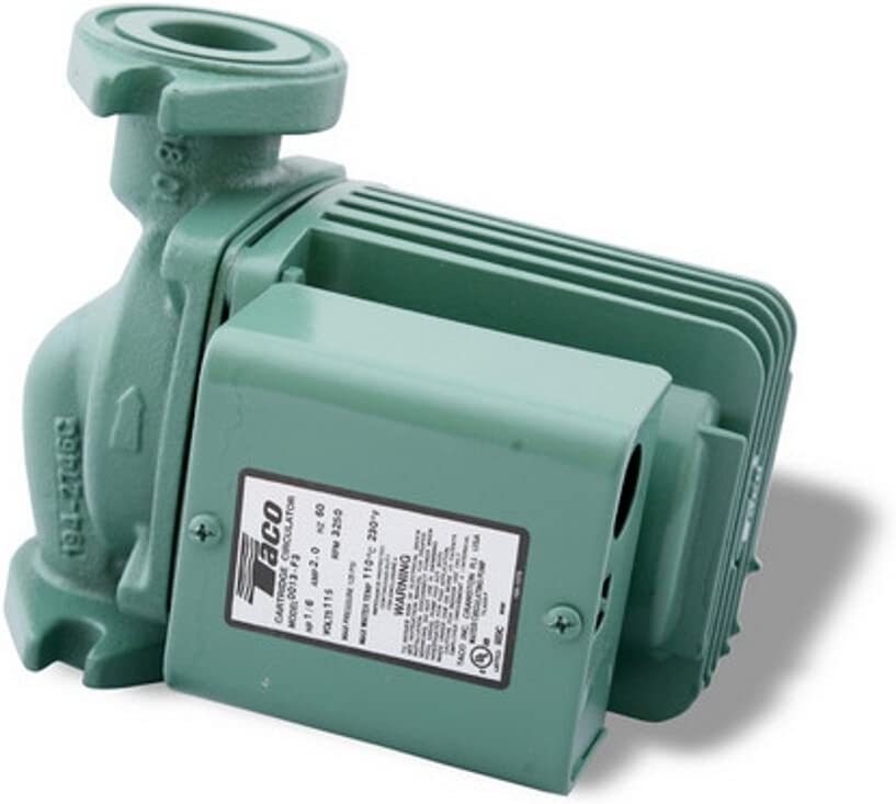 Taco 0013-F3 1/6-HP Cast Iron Cartridge Circulating Pump