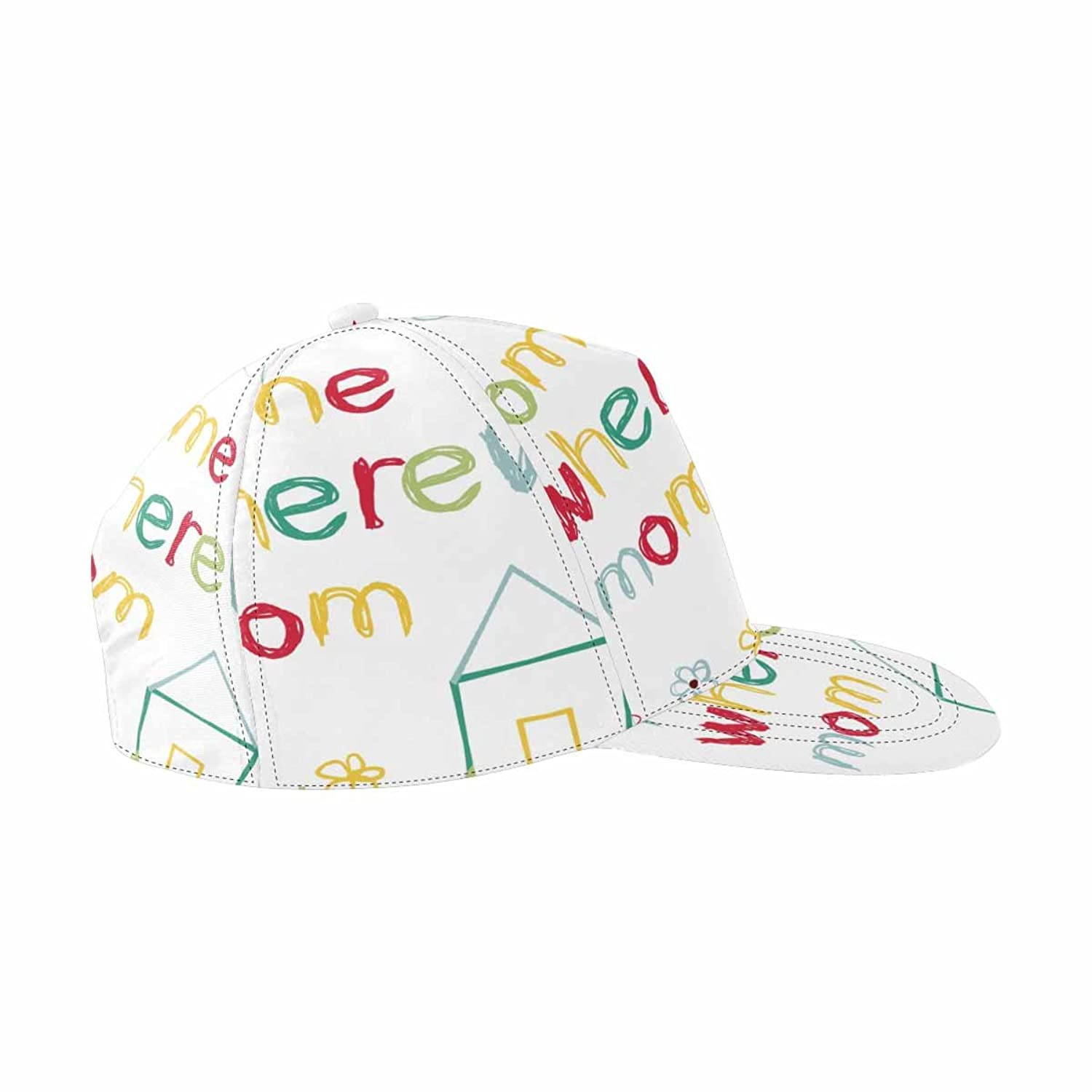 InterestPrint HAT レディース US サイズ: adjustable strap B07DN59VGM