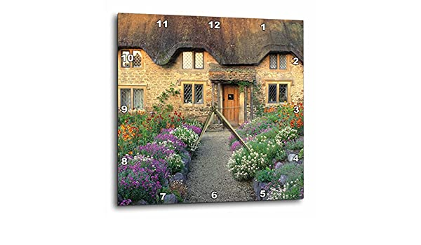 3dRose dpp/_82787/_1 England Cotswold Stones of Home EU33 RER0123 Ric Ergenbright Wall Clock Chippenham 10 by 10-Inch