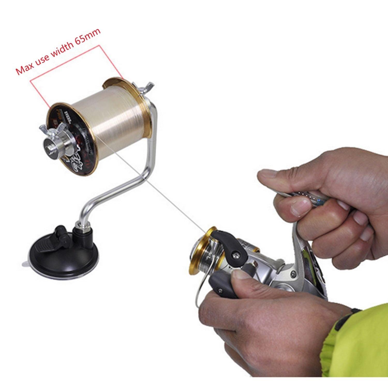 Vbestlife Fishing Line Reel Spooler Portable Winder Reel Spool System Tackle Line Winder Spooling Station Accessory