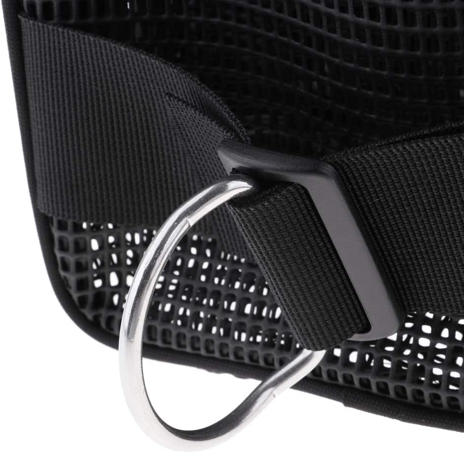 Large Mesh Gear Bag Pocket Pouch /& D Ring for Scuba Diving SMB BCD Equipment