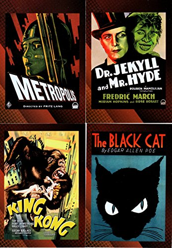 VINTAGE MOVIE POSTER COLLECTION SCI-FI HORROR 2007 BREYGENT BASE CARD SET OF 49 MO