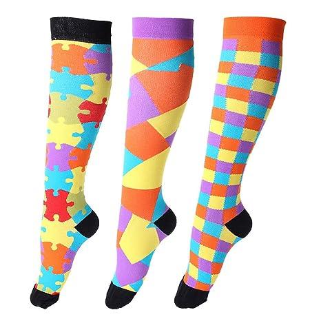 Ease Leap Medias de compresión para mujer Compresión Medias Hombre Deportes Calcetines de compresión antitrombosis Viajar
